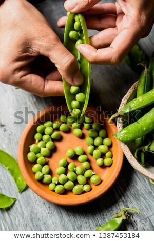 organisch · groene · jonge · erwten · grijs - stockfoto © nito