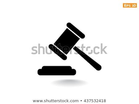 Telefone leilões gabela mesa de madeira ilustração 3d telefone Foto stock © limbi007