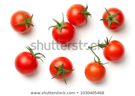 Taze kiraz domates siyah bitki kiraz diyet Stok fotoğraf © grafvision
