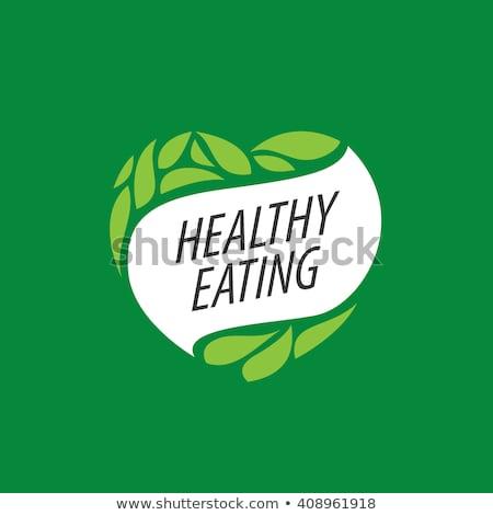 gezonde · voeding · hart · geïsoleerd · witte · groene · plantaardige - stockfoto © robuart