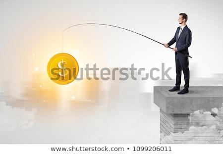 ビジネスマン · トラップ · ビジネス · タイトロープ · 徒歩 · 線 - ストックフォト © ra2studio