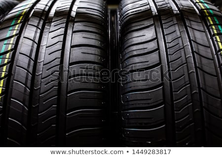Tyres being stored in a garage - waiting for the client Stock photo © lightpoet