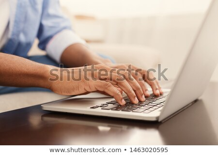 Man Programming Code On Laptop Computer Stock photo © AndreyPopov