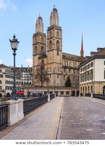 grossmunster cathedral in zurich switzerland stock photo © boggy