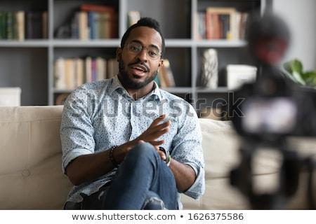 Blogger videó gemkapocs fickó kamera illusztráció Stock fotó © jossdiim