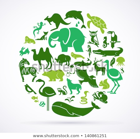 Stock photo: glossy animal icons