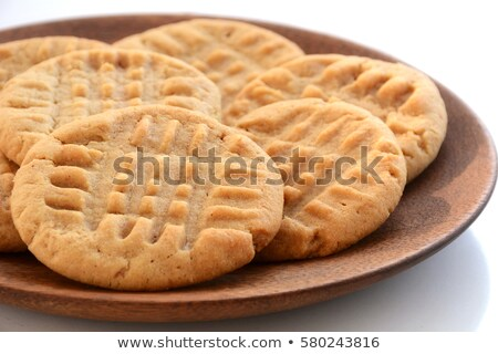 Homemade peanut butter cookies on white plate Stock photo © bborriss