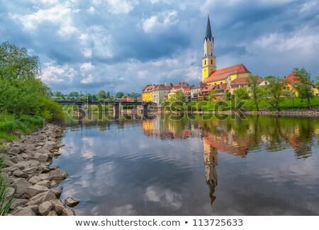 kő · folyó · völgy · Németország · erdő · természet - stock fotó © borisb17