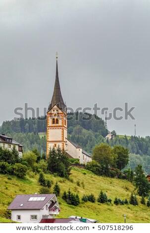 Kerk Oostenrijk gras bos Stockfoto © borisb17