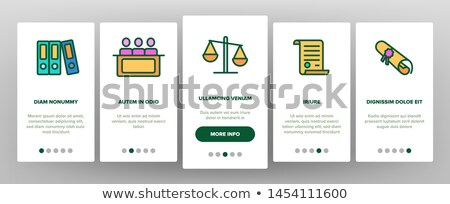 law and judgement onboarding icons set vector stock photo © pikepicture
