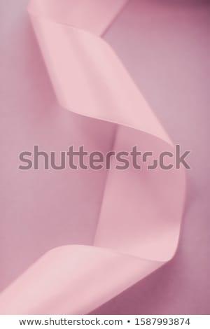 Abstract zijde lint roze exclusief Stockfoto © Anneleven