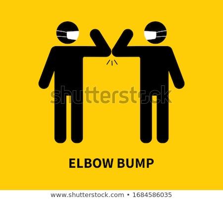 Elbow Bump Concept Vector Stock photo © THP