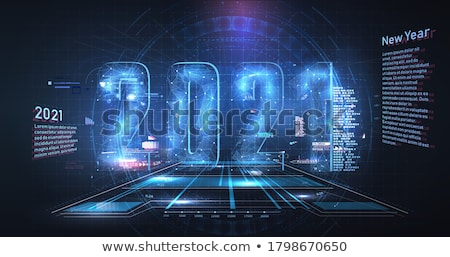 futuristic technology data visualization banner with circuit dia Stock photo © SArts