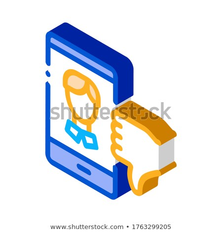 Dislike Avatar Male isometric icon vector illustration Stock photo © pikepicture