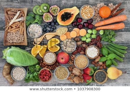 высокий волокно вегетарианский здоровья продовольствие фрукты Сток-фото © marilyna