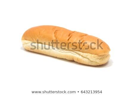 долго буханка хлеб изолированный белый текстуры Сток-фото © karandaev