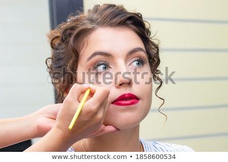 Closeup portrait of young woman visagiste Stock photo © HASLOO