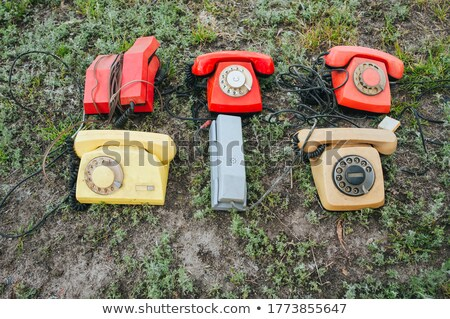 Retro styled rotary telephone in the grass Stock photo © AndreyKr