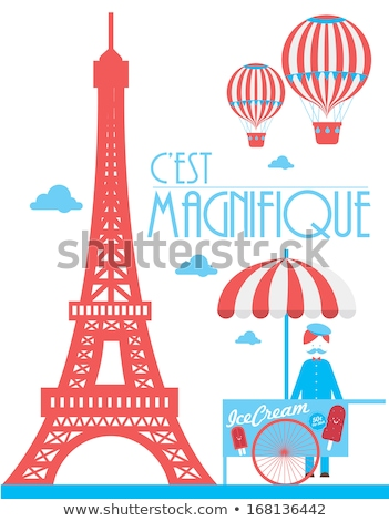 eiffel tower with the flag of france stock photo © mayboro