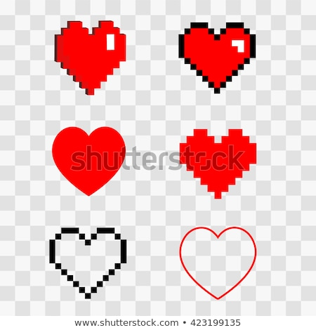 valentine day mosaic heart card eps 8 stock photo © beholdereye