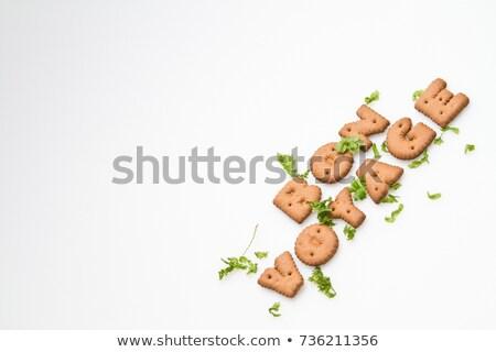 herbatniki · pozostawia · wyrażenie · brązowy · biały - zdjęcia stock © azamshah72