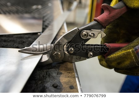 Man holding sheet of metal Stock photo © photography33