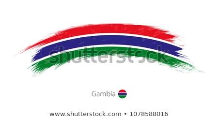 Grunge vlag Gambia oude vintage grunge textuur Stockfoto © HypnoCreative