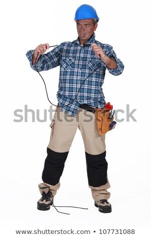 Unintelligent electrician Stock photo © photography33