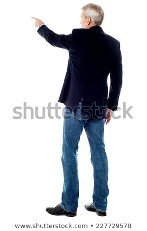 Ansicht Holunder Geschäftsmann posiert tragen Stock foto © stockyimages