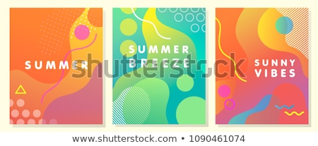 抽象的な 夏 パーティ ビーチ 音楽 デザイン ストックフォト © pathakdesigner
