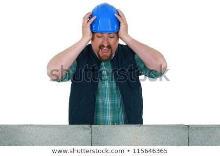 Metselaar gebrek vooruitgang man bouw Stockfoto © photography33
