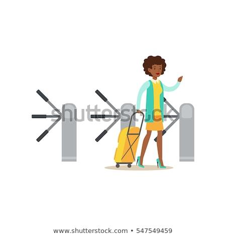 turnstile vector illustration stock photo © konturvid