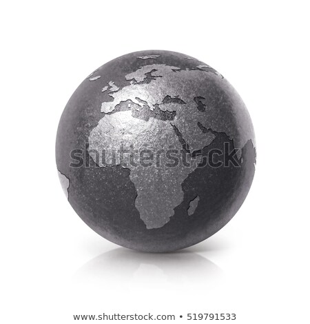 3d Earth Model with black background Stock photo © chrisroll