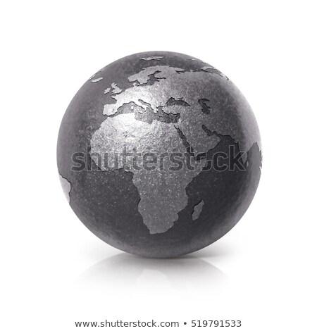 3D aarde model zwarte diep ruimte Stockfoto © chrisroll
