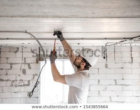 Reconstrução lâmpada piso vazio feio Foto stock © Sarkao