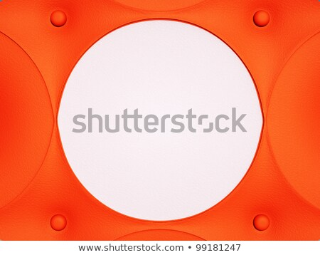 Red leather pattern with white circle and knobs Stock photo © Arsgera