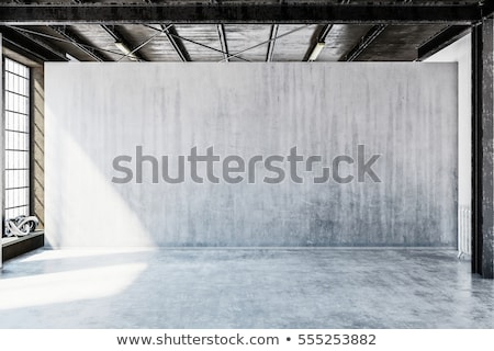 Grey concrete wall - industrial background Stock photo © pzaxe