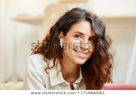 Igazi fiatal gyönyörű nő kezek száj egészség Stock fotó © Studiotrebuchet