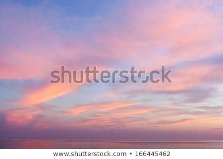 Céu rosa azul mar nuvens paisagem Foto stock © mariephoto
