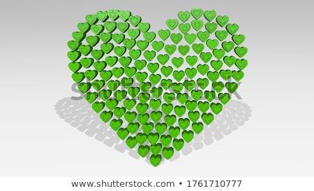 piros · szív · alak · billentyűzet · számítógép · billentyűzet - stock fotó © devon