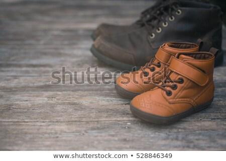pair of vintage child leather shoes Stock photo © leeavison