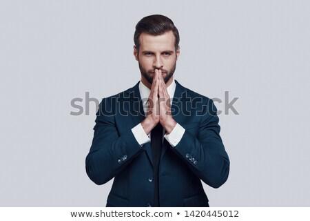 祈っ · 白 · ビジネス · 顔 - ストックフォト © wavebreak_media