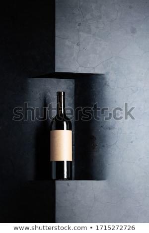 şarap şişesi metin ahşap grup kırmızı Stok fotoğraf © luckyraccoon