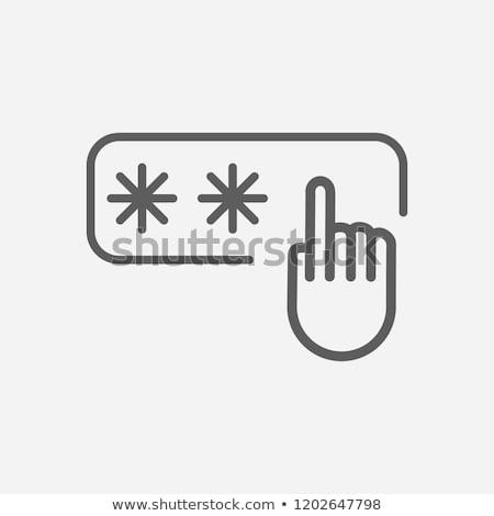 Belépés hozzáférés kód ujjlenyomat eps 10 Stock fotó © IMaster