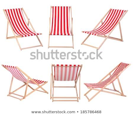 Wood Chair on Beach Stock photo © rhamm