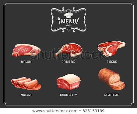 Butcher cutting parma ham on cutting board