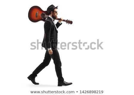 Adam akustik gitar gitar dizayn sanat Stok fotoğraf © photography33
