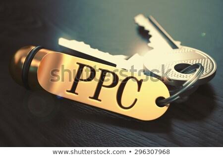 Ppc arany kulcs fehér 3d render üzlet Stock fotó © tashatuvango