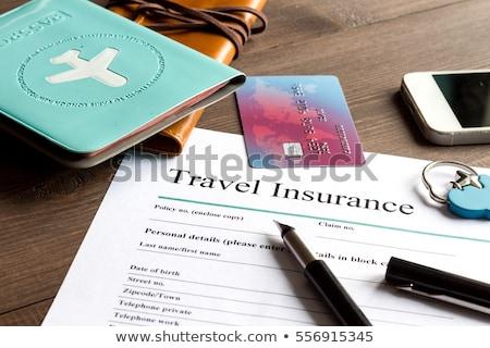 utazás · biztosítás · főcím - stock fotó © devon