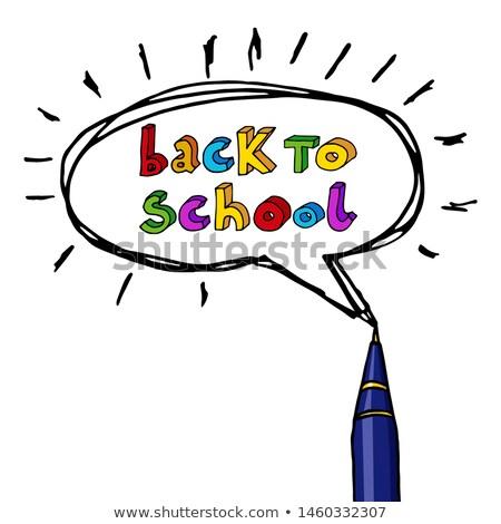 mensagem · bolha · ilustração · projeto · negócio · escolas - foto stock © alexmillos